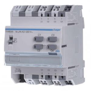 فعال ساز سوئیچ و پرده برقی Hager چهار کانال ۴ آمپر