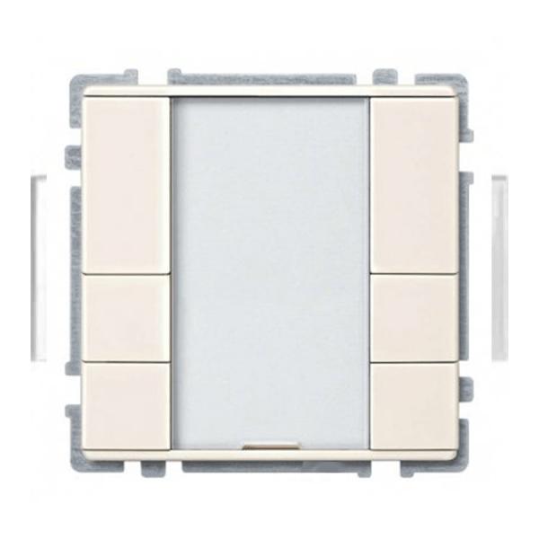 کلید هوشمند 6 پل اشنایدر سیستم دیزاین کرم براق