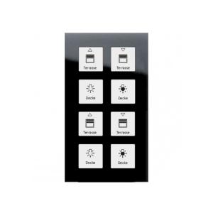 کلید هوشمند 8 پل لمسی MDT مشکی