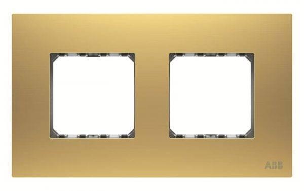 قاب 2 خانه طلایی فلزی ABB